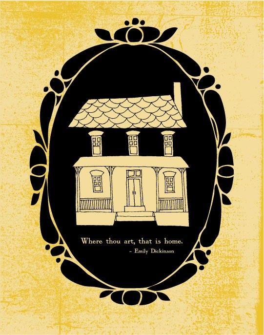 Emily dickinson art is a house