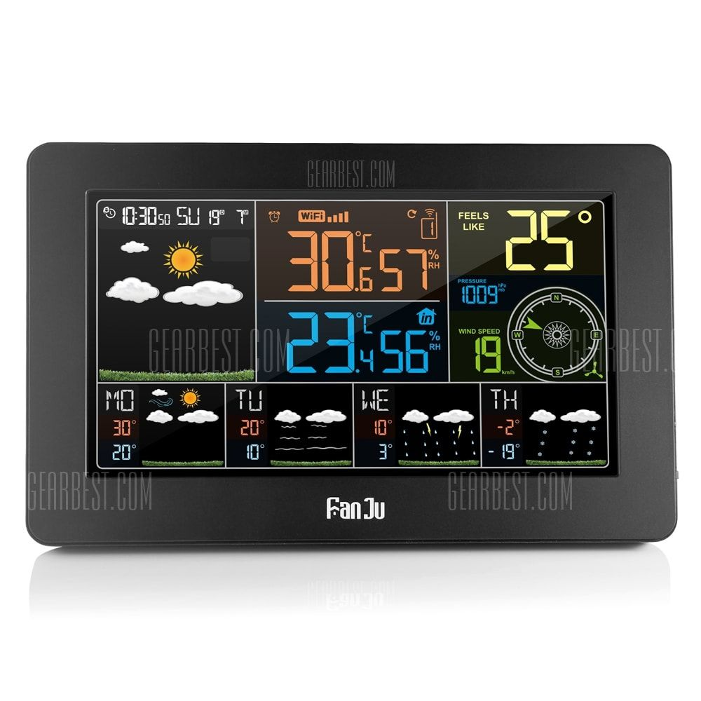 FanJu FJW4 Multifunction WiFi Digital Alarm Clock Smart
