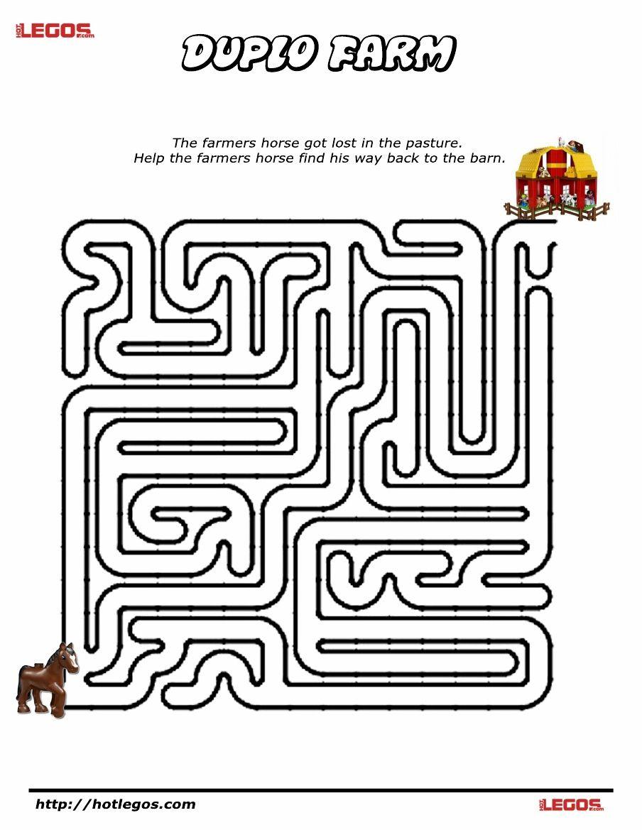 Duplo Farm Puzzle Maze Free Printable Maze Puzzles Lego Maze
