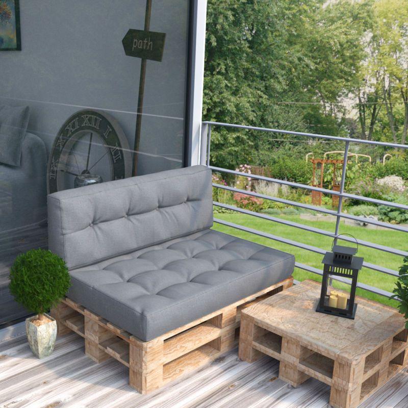 palettenkissen palettensofa palettenpolster kissen sofa polster anthrazit grau palletten. Black Bedroom Furniture Sets. Home Design Ideas