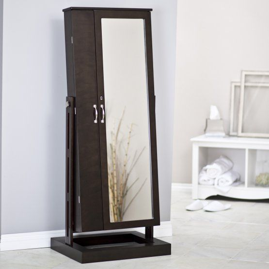 Belham Living Bordeaux Locking Cheval Mirror Jewelry Armoire Ideas
