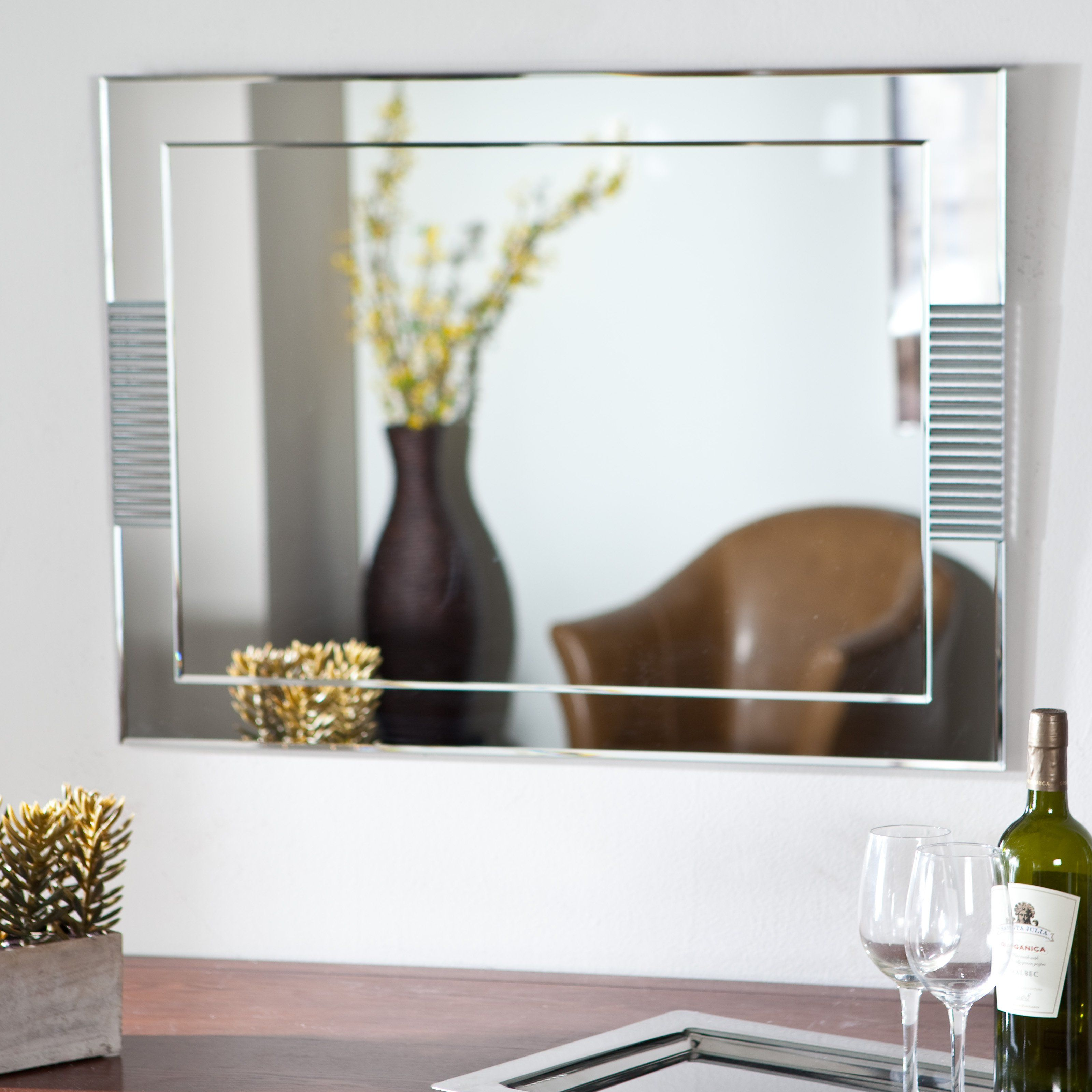 have to have it francisca large frameless wall mirror 23 6w x