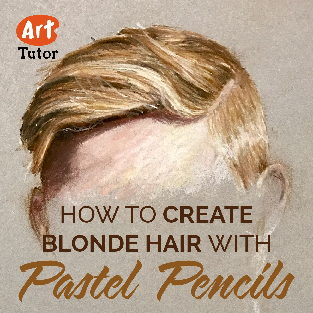 Learn How To Draw Blonde Hair In Pastel Pencil As Part Of The