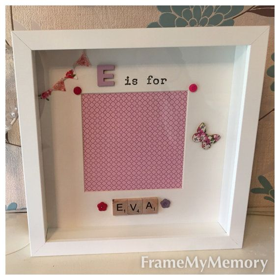 Personalised New Baby Frame, New Baby Gift, Christening Present ...