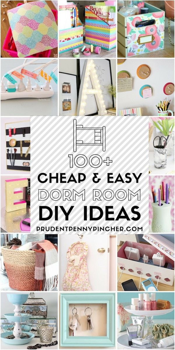 100 Cheap and Easy Dorm Room DIY Ideas #dormroomideas