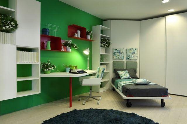 Dormitorios Juveniles Modernos Dormitorio Verde Decoracion - Decoracion-dormitorios-juveniles-modernos