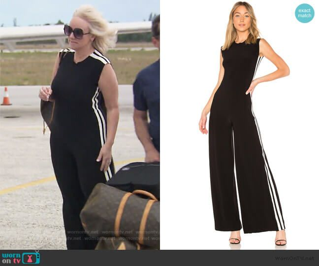 fbfabab980a9 Margaret s black side stripe jumpsuit on The Real Housewives of New Jersey.  Outfit Details