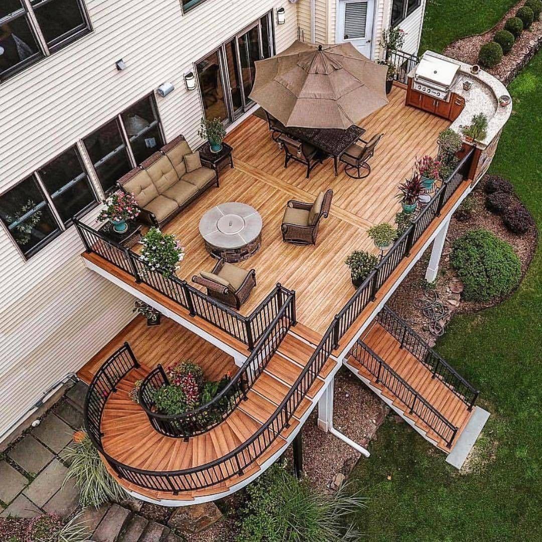 Home Deck Design Ideas:  Home Interior Design Beautiful And Unique Deck