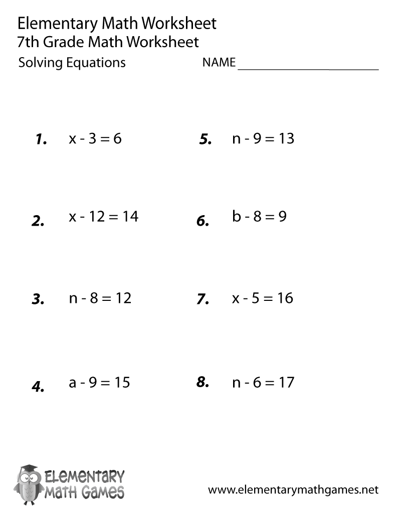 Grade 7 Printable 7th Grade Math Worksheets Https Ift Tt 2uvafvh 7th Grade Math Worksheets Math Practice Worksheets Algebra Worksheets
