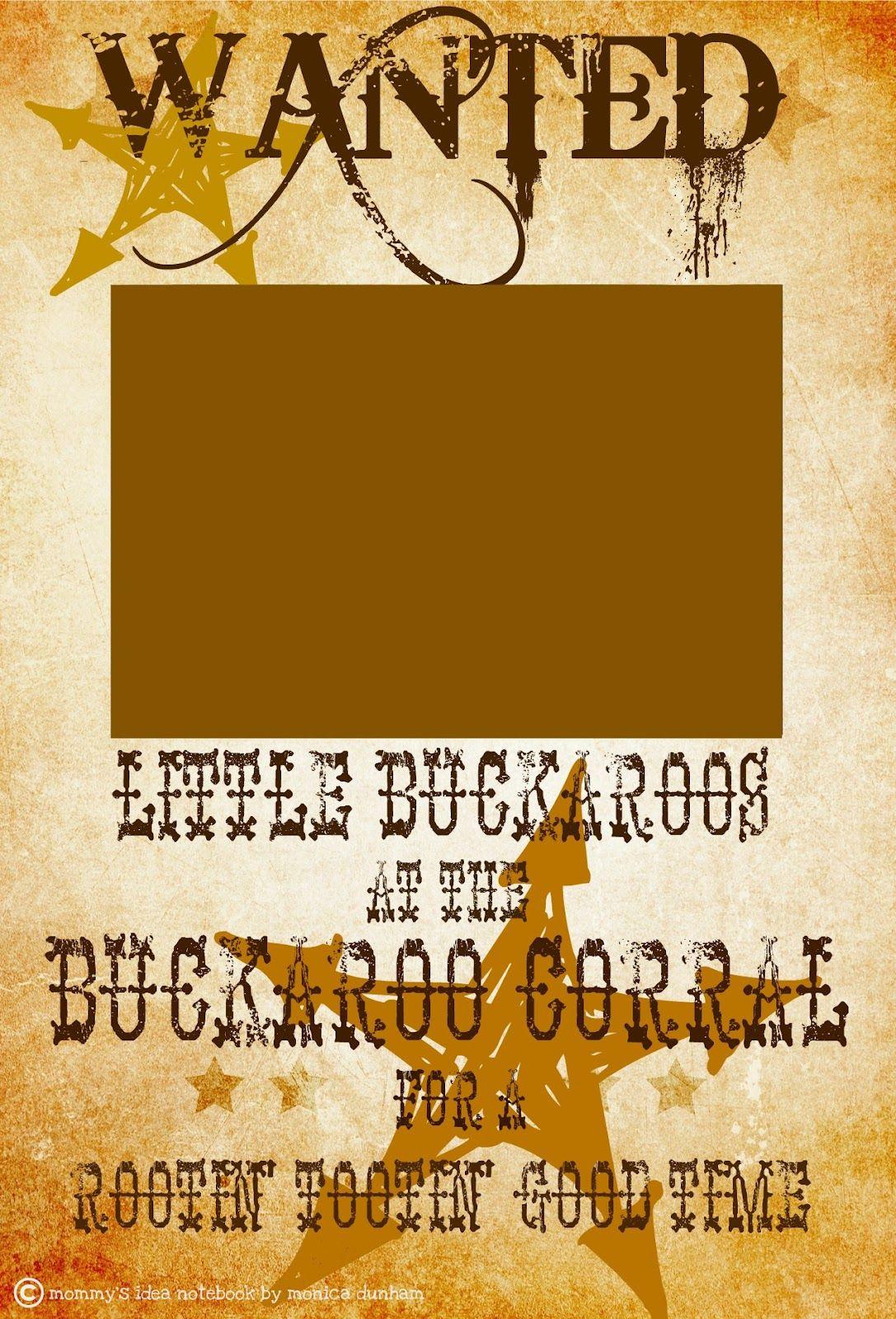 FREE WESTERN WANTED SIGN | Western/Farm/Cowboy/Cowgirl Birthday ...