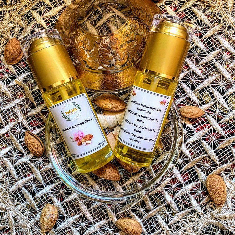 Wana Cosmetics On Instagram زيت اللوز الحلو يعمل على معالجة المشاكل المختلفة التي تتعرض لها البشرة ويقوم بتغذيتها للحص Wine Bottle Rose Wine Bottle Bottle