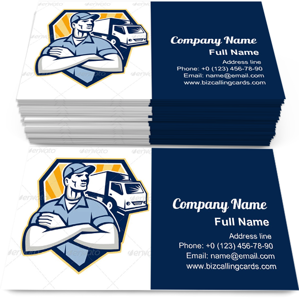 Removal Man Delivery Business Card Template Business Card Template Card Template Visiting Cards
