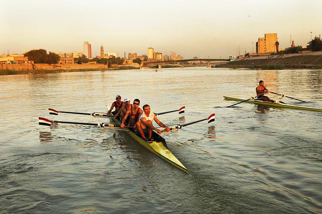 Iraqi rowing team - trained on the Tigris River - Baghdad