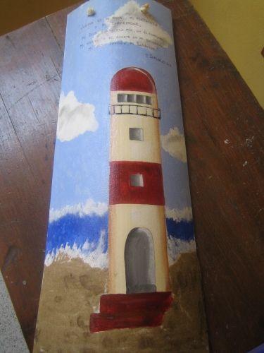 Tejas pintadas con acr licos y arena decorated roof tile tejas decoradas - Pintar tejas de barro ...