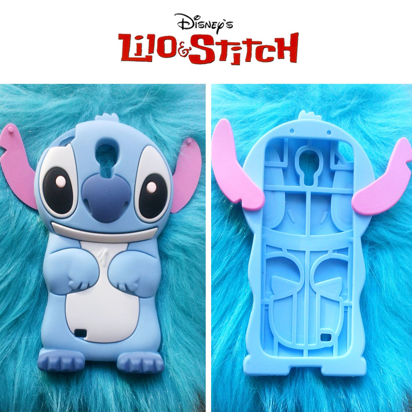 52023a4296b Funda Silicona de Stitch para Samsung Galaxy S4 Las orejas se pueden plegar