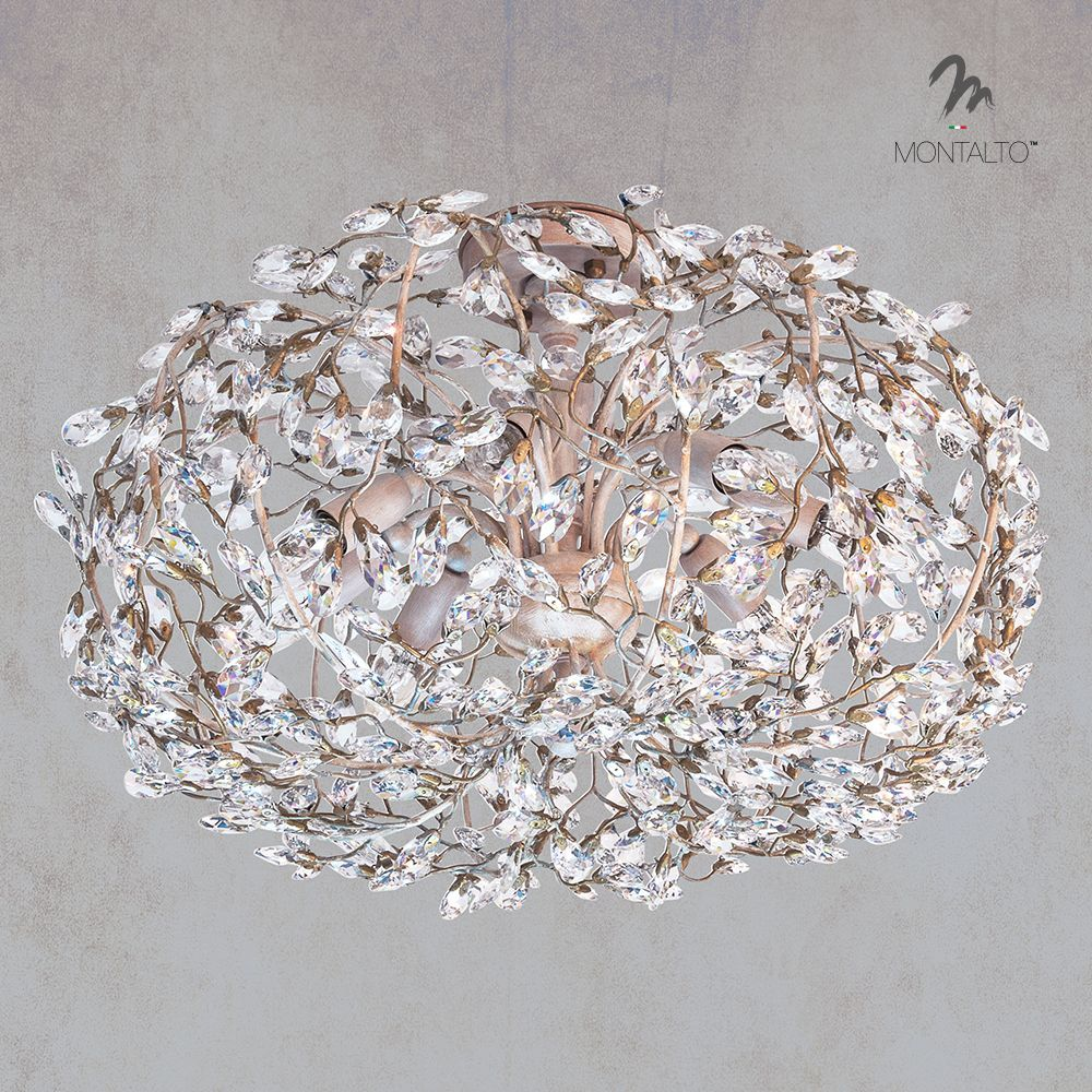 Montaltolamp ceiling lamp made in italy wrought iron and