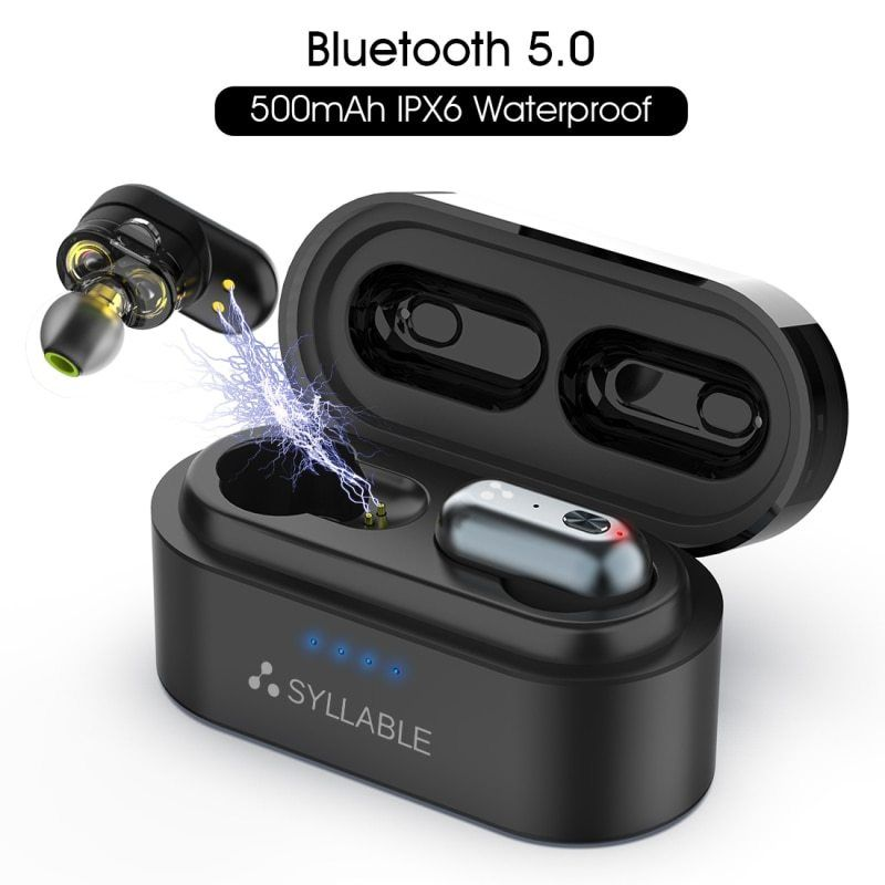 Original Syllable S101 With Qualcomm Qcc3020 Chip Bluetooth V5 0 Bass Earphones Wireless Headset Noise Reduction S Wireless Earphones Earphone Wireless Headset