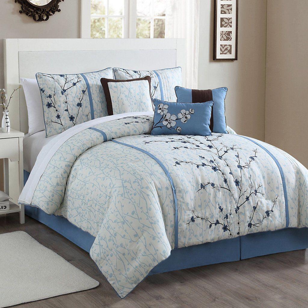 Cherry Blossom 7pc. Comforter Set