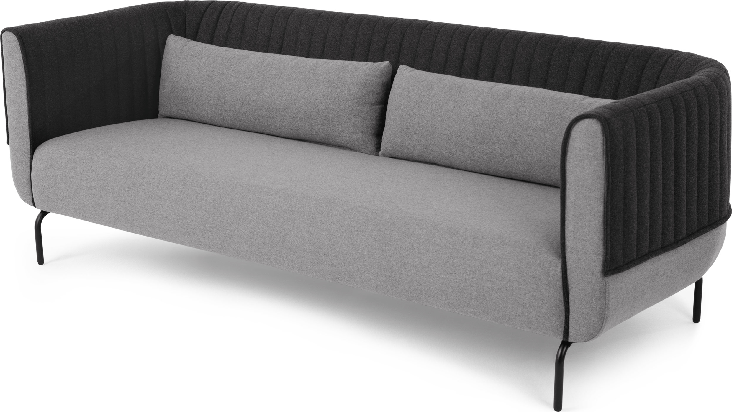 Sofa Bed Express Delivery Made 3 Seater Sofa Kestrel Whisper Grey Wool Mix Express