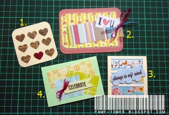 Mini Cards Tags From Scrap Papers Paper Craft Projects Greeting Cards Handmade Paper Crafts