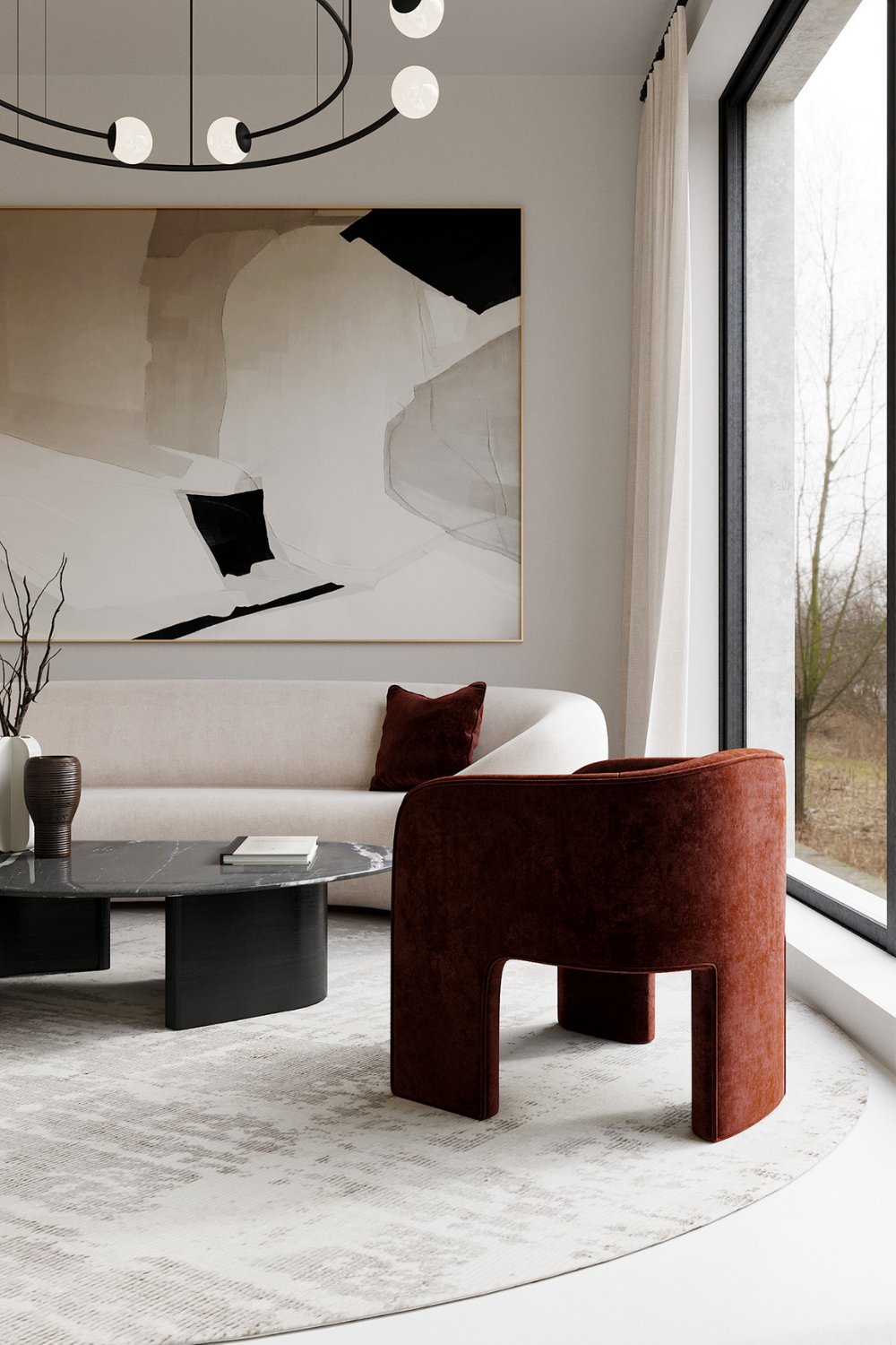 Minimalist Interiors Throught Lines And Neutral Tones