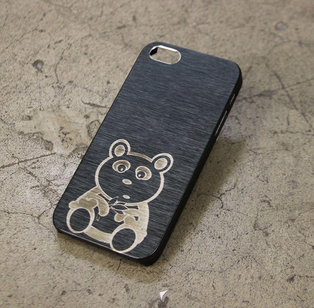 Metal Case Panda Teddy Bear Cute iPhone Case Cover