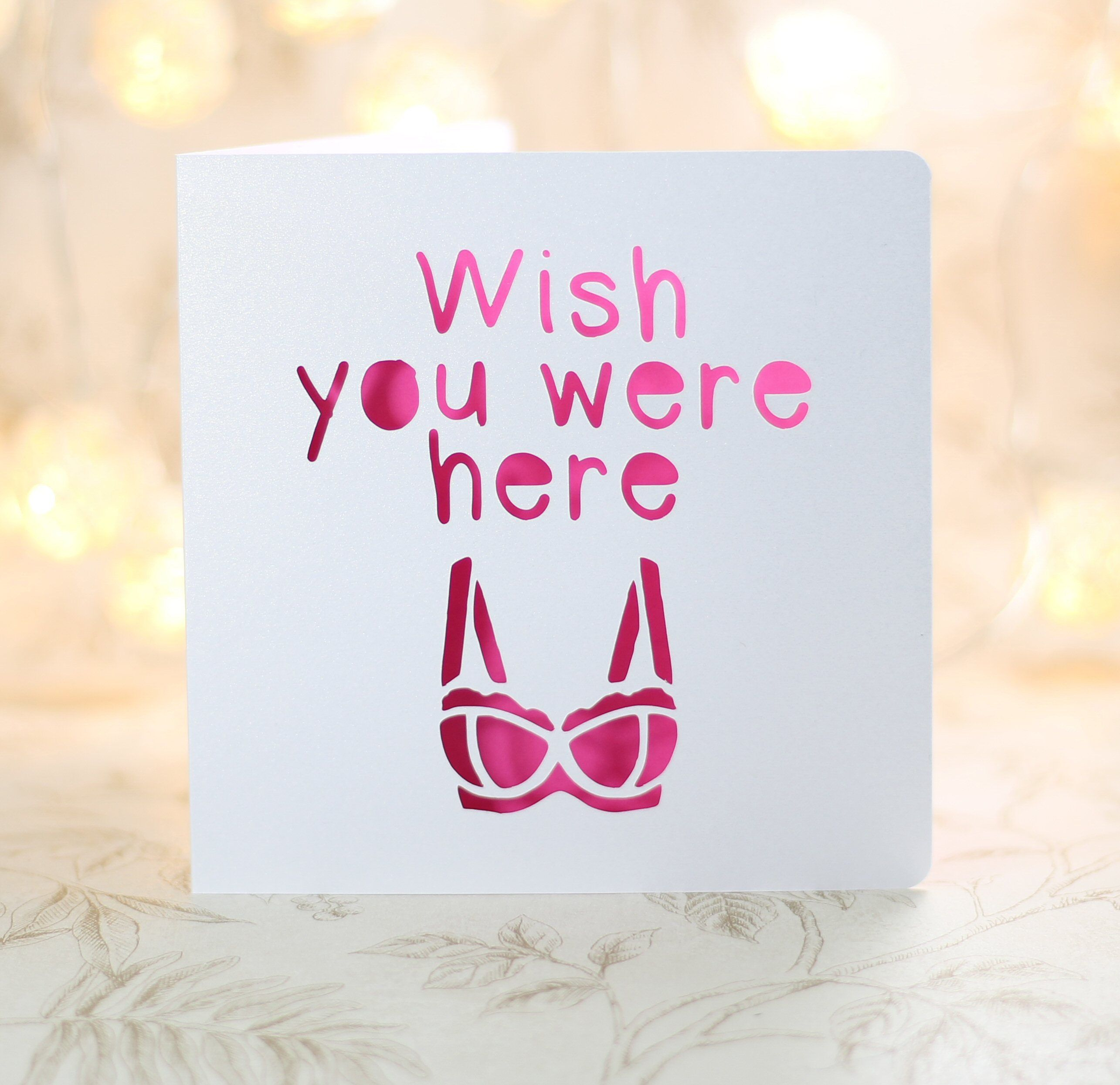 Wish you were here y birthday card missing you