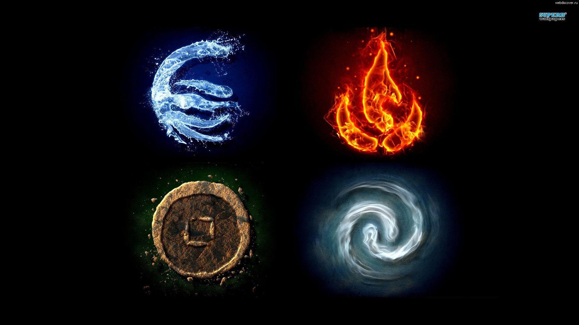 4 Elements стихии Element Symbols Avatar The Last