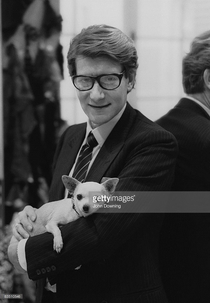 French fashion designer Yves Saint Laurent (1936 - 2008) in his Paris studio, January 1982.