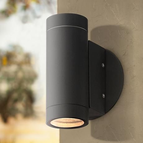 Possini Euro Matte Black Up And Down Wall Light 4c898 Lamps Plus Outdoor Wall Light Fixtures Modern Outdoor Wall Lighting Black Outdoor Wall Lights Up down exterior lights