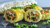Breakfast Omelet Roll-Ups #bodybuildingrecipes Breakfast Omelet Roll-Ups | Bodyb...,  #Bodyb #bodybu...