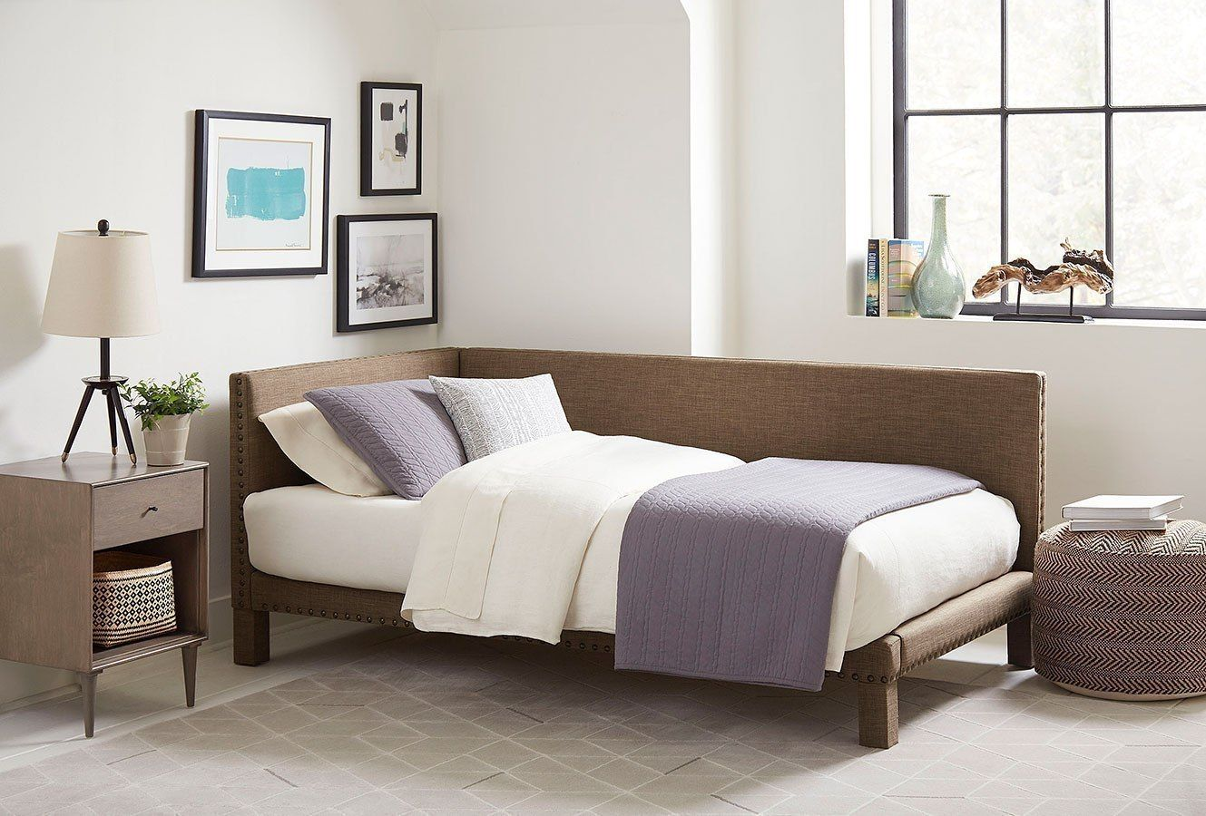 Ryleigh Corner Bed (Brown) Bed frame sizes, Low loft