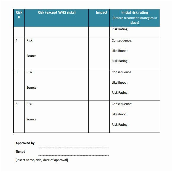 40 Risk Management Plan Template in 2020 (With images ...