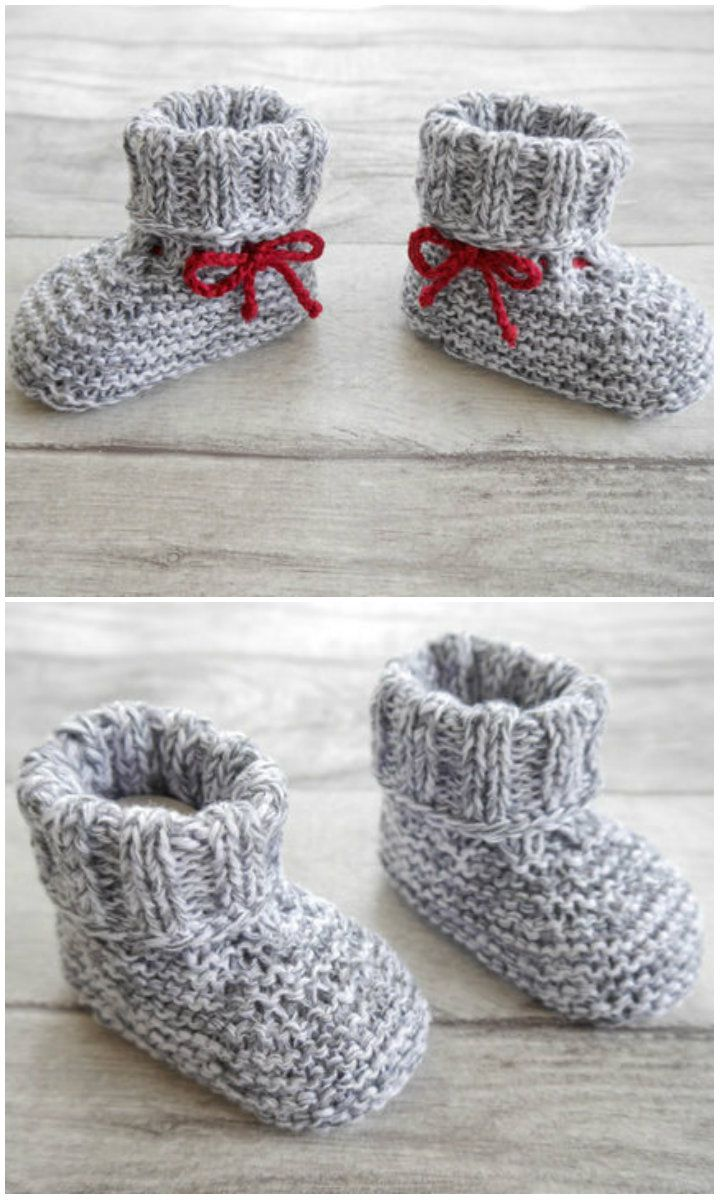 Photo of Babyschuhe zum Stricken und super für Wollreste – Strickanleitung via Makerist….