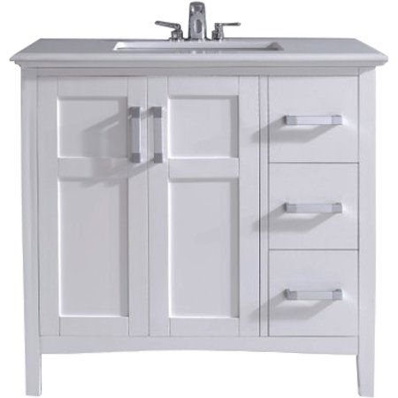 Brooklyn + Max Wilshire 36 inch White Bath Vanity Products