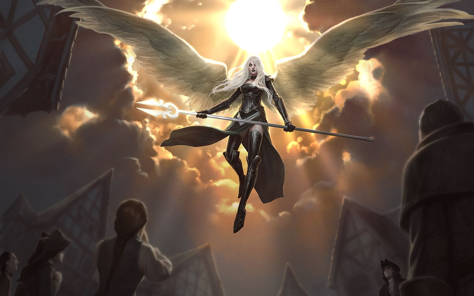 Mtg Art Jason Chan Warrior Angel Angels And Demons Dark