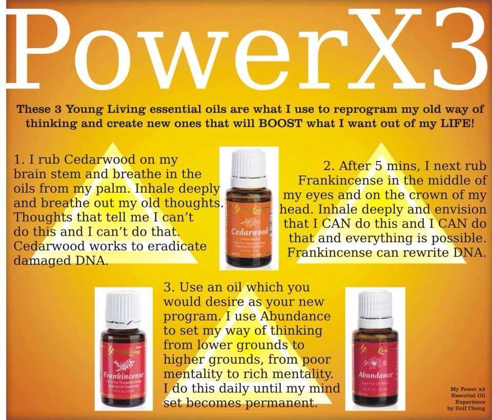 Power 3 Young Living Self Care Essencial Oils