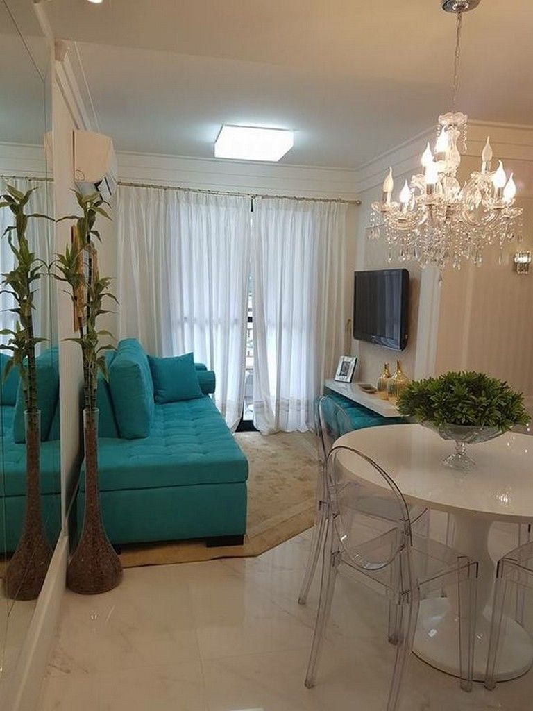 Best 45 Amazing Small Apartment Living Room Design Ideas 400 x 300
