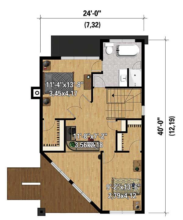 Plan 80822pm Two Bedroom Contemporary House Plan Contemporary House Plans Contemporary House Contemporary Bedroom Zahm house floor plan