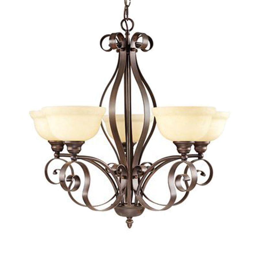 Livex Lighting Manchester 28 5 In Light Imperial Bronze Mediterranean Shaded Chandelier