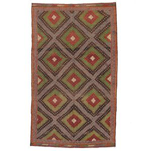 Turkish Kilim 6'7x11'1 Blue, $599, now featured on Fab.