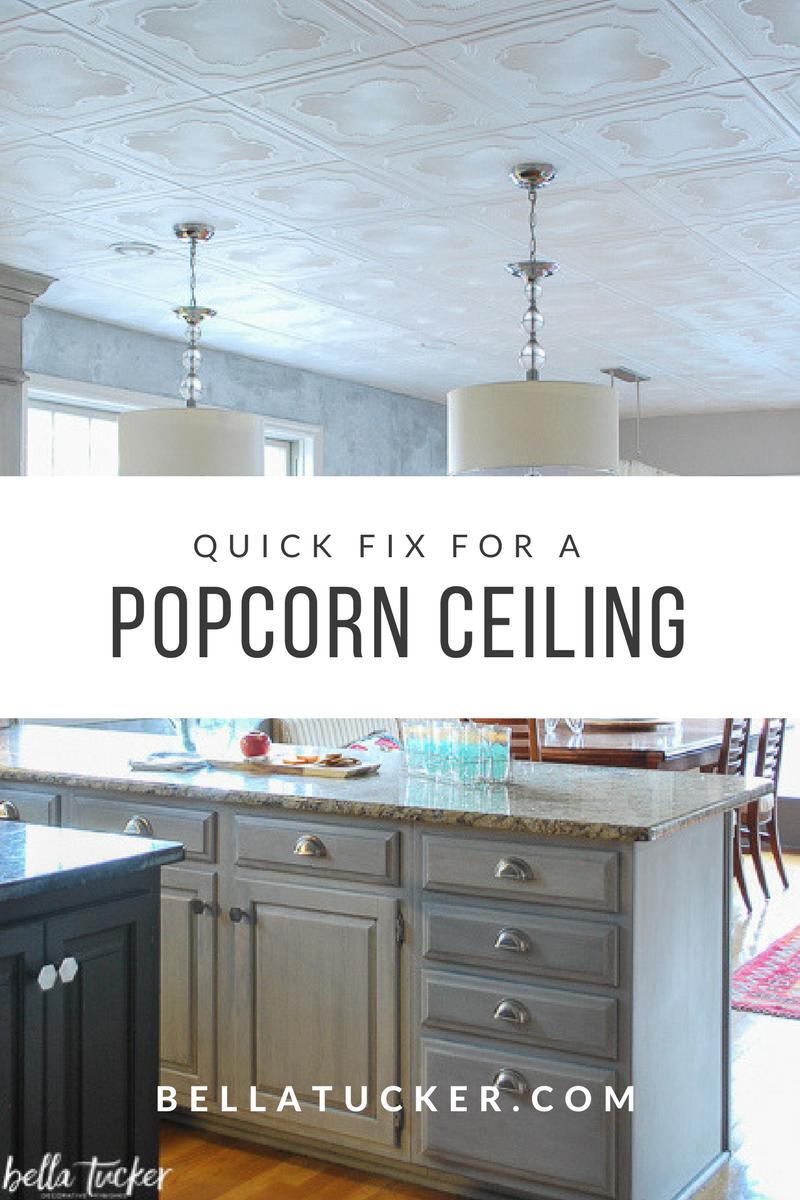 styrofoam ceiling tiles install right over popcorn ...
