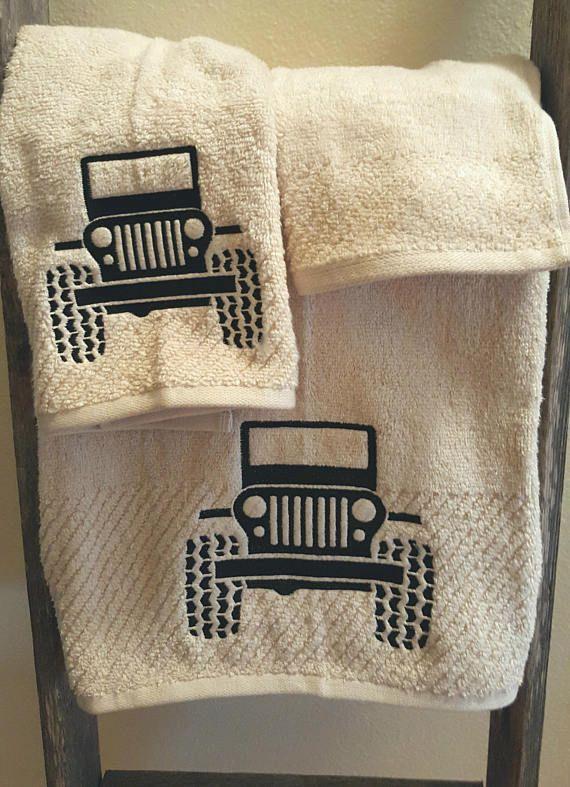 Jeep-Jeep Towel-Embroidery-Bath Towel- Home Decor-Bathroom