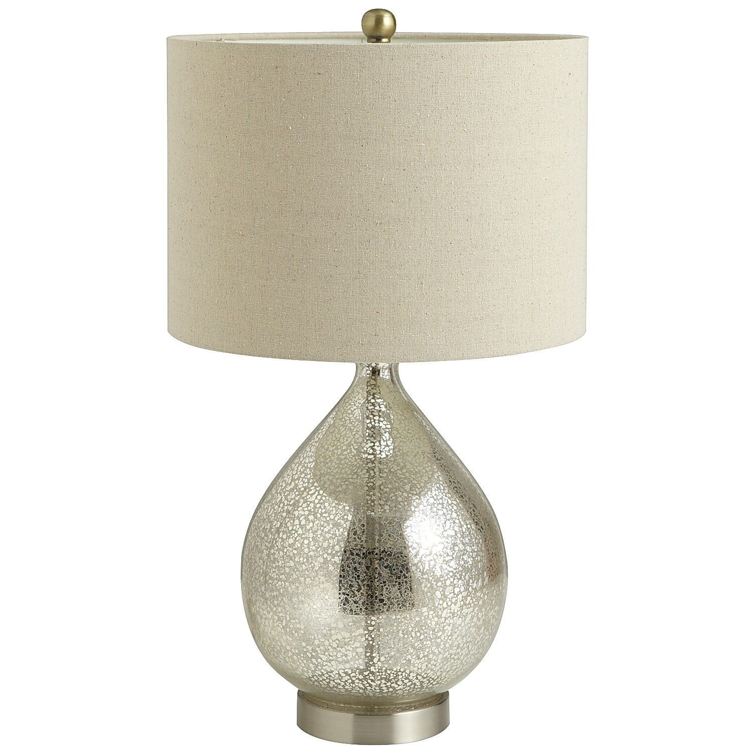 Teardrop Luxe Lamp Mercury Glass Table Lamp Silver Table Lamps Table Lamps For Bedroom #silver #lamps #for #living #room