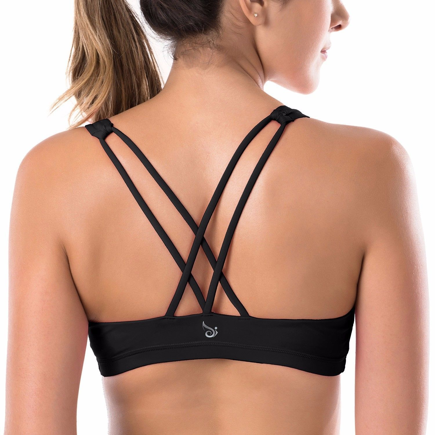749ddc0dbae6c La Isla Women s Light Support Cross Back Wirefree Removable Cups Yoga Sports  Bra   Learn more by visiting the image link.