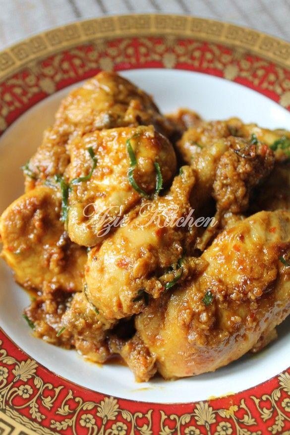 Azie Kitchen Rendang Ayam Sedap Dan Tahan Lama Resep Ayam Resep Masakan Makanan