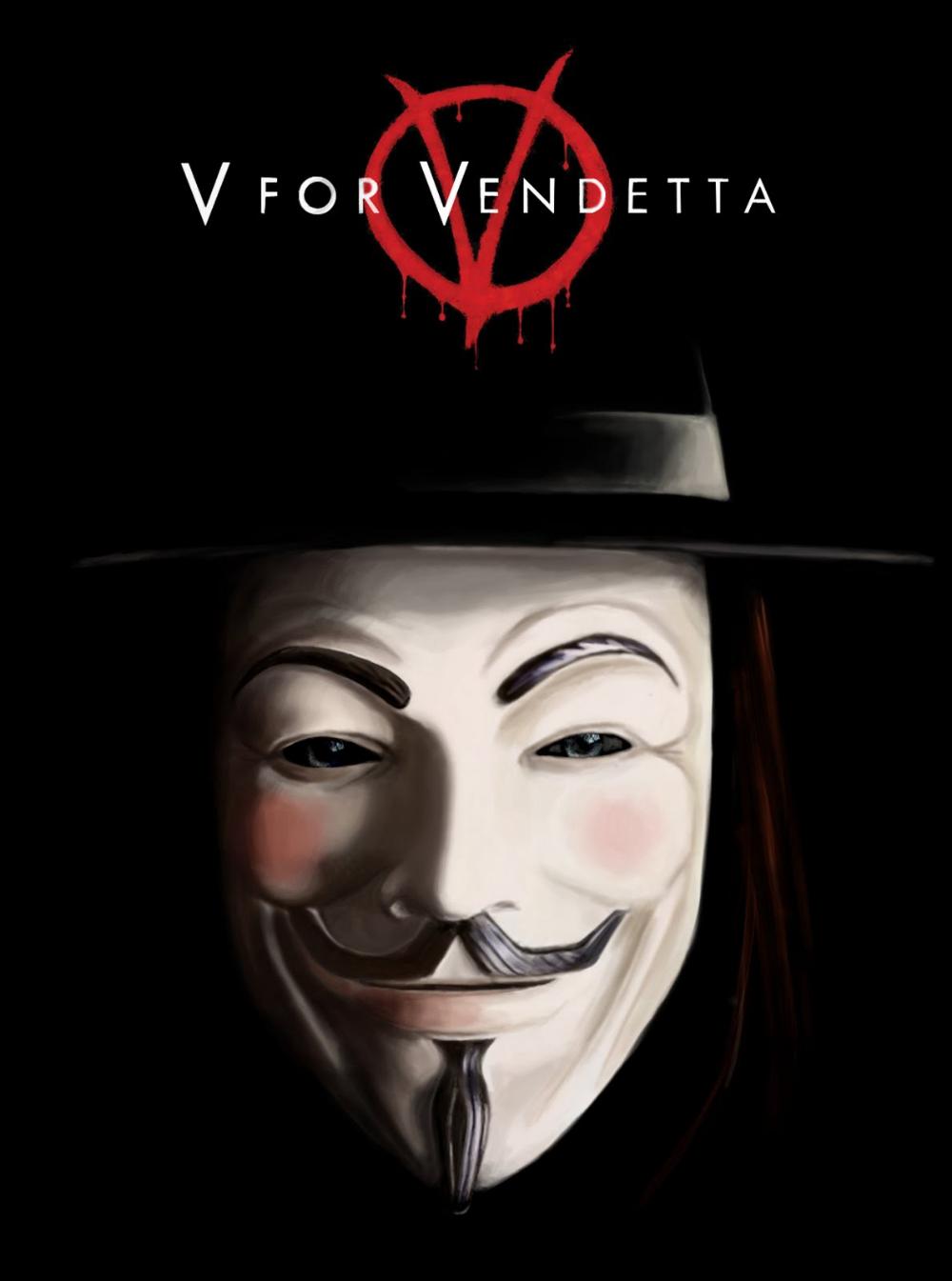 V for Vendetta quad movie poster Hugo weaving, Movie