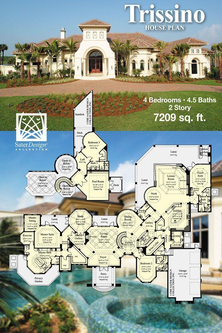 Mediterranean Luxury Home Plans Mediterranean House Plans House Plans Modern Pool House