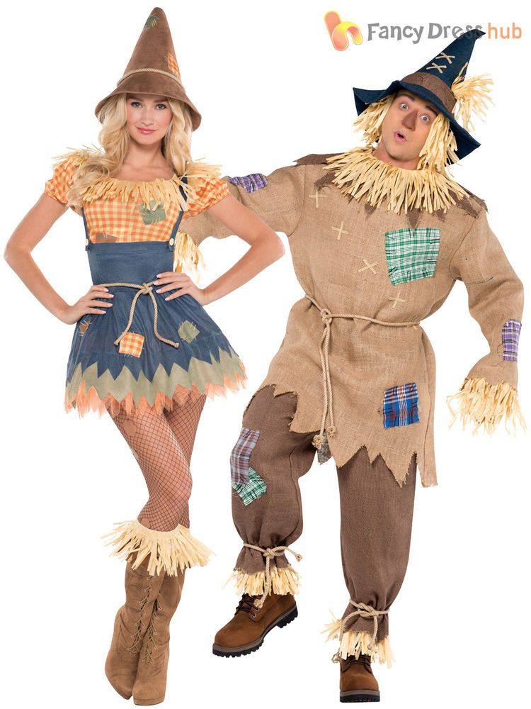 Mens Ladies Scarecrow Costume Book Week Day Character Fancy Dress Outfit Couples | eBay