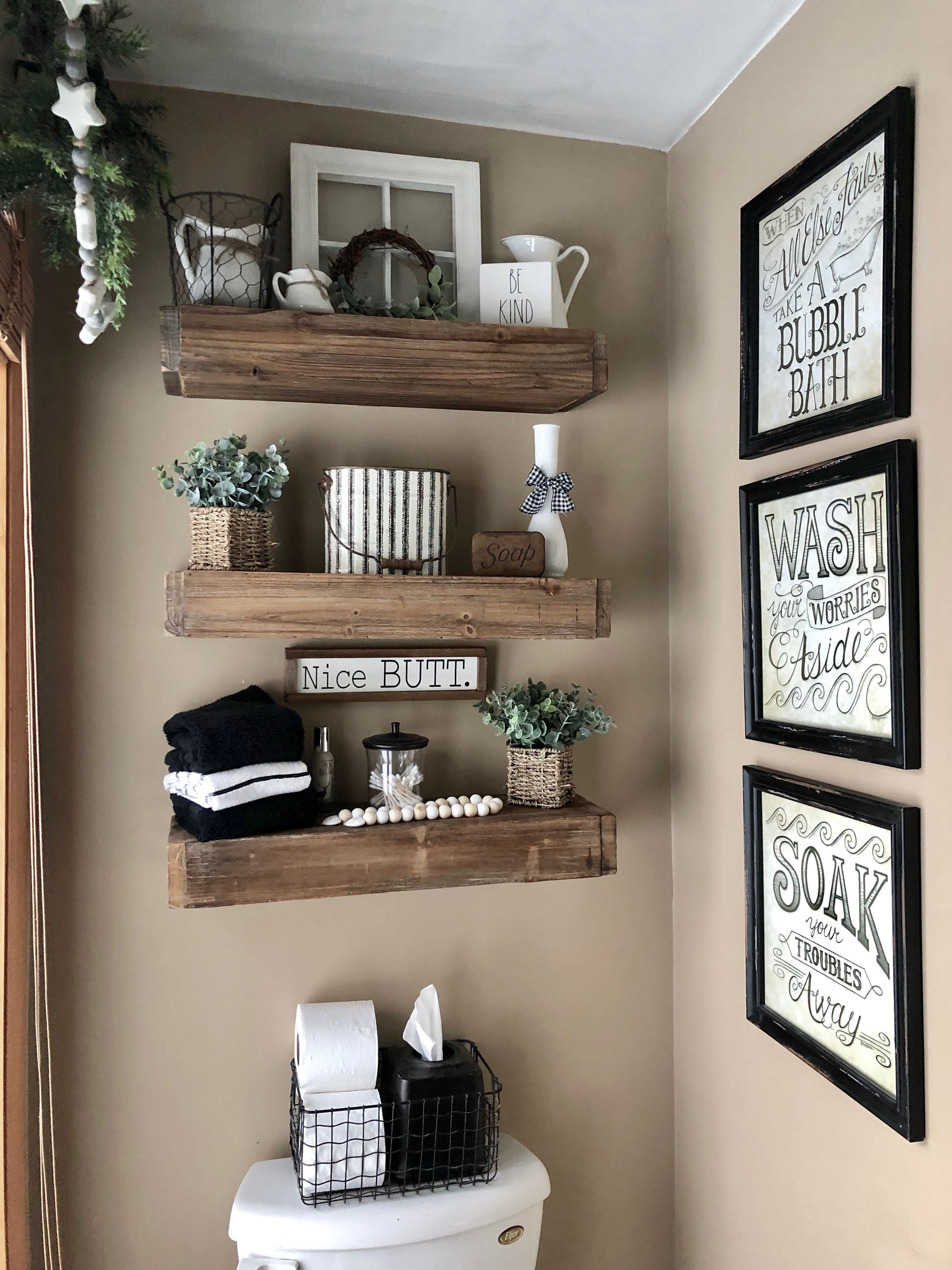 25 Amazing DIY Floating Shelves For Bathroom to Easy Organize Everything #bathroomrenoideas